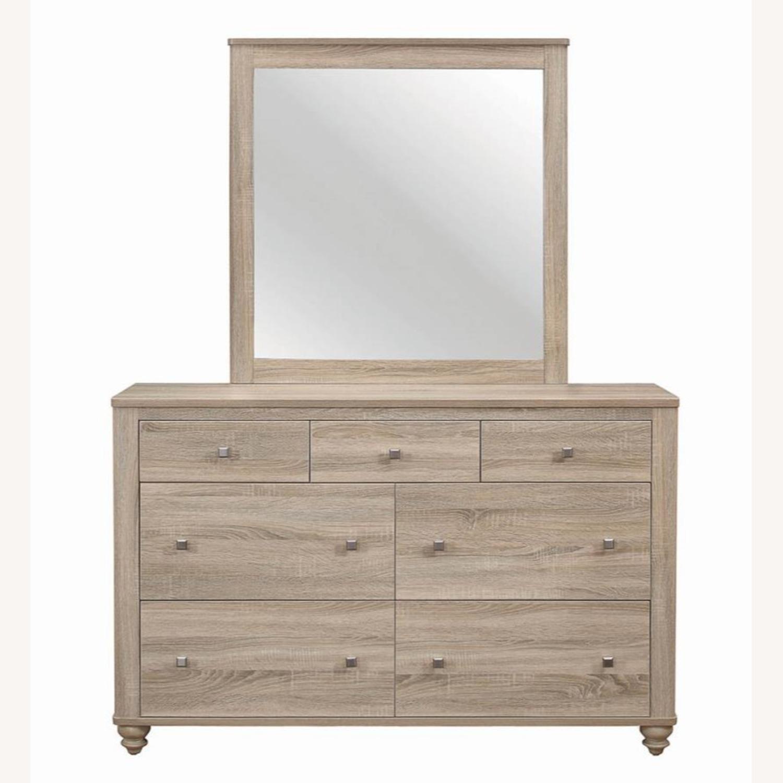 Classy Mirror In Natural Oak Finish - image-2