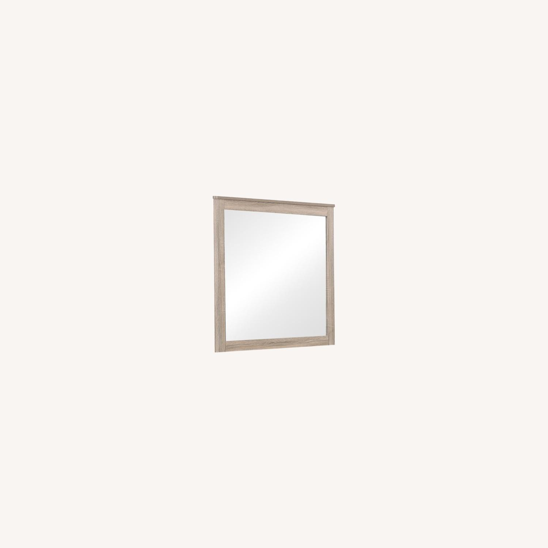 Classy Mirror In Natural Oak Finish - image-5