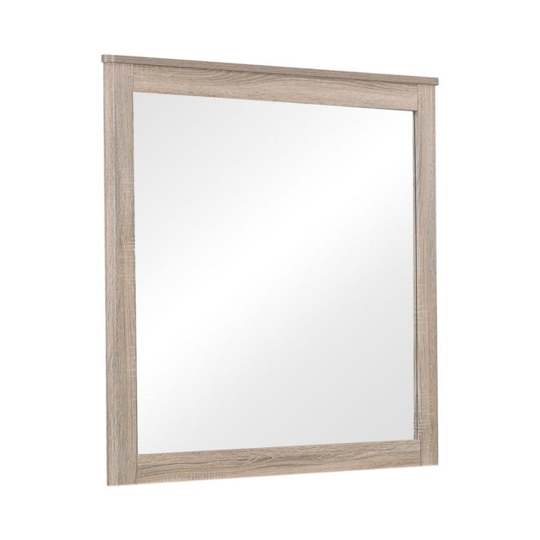 Classy Mirror In Natural Oak Finish - image-0