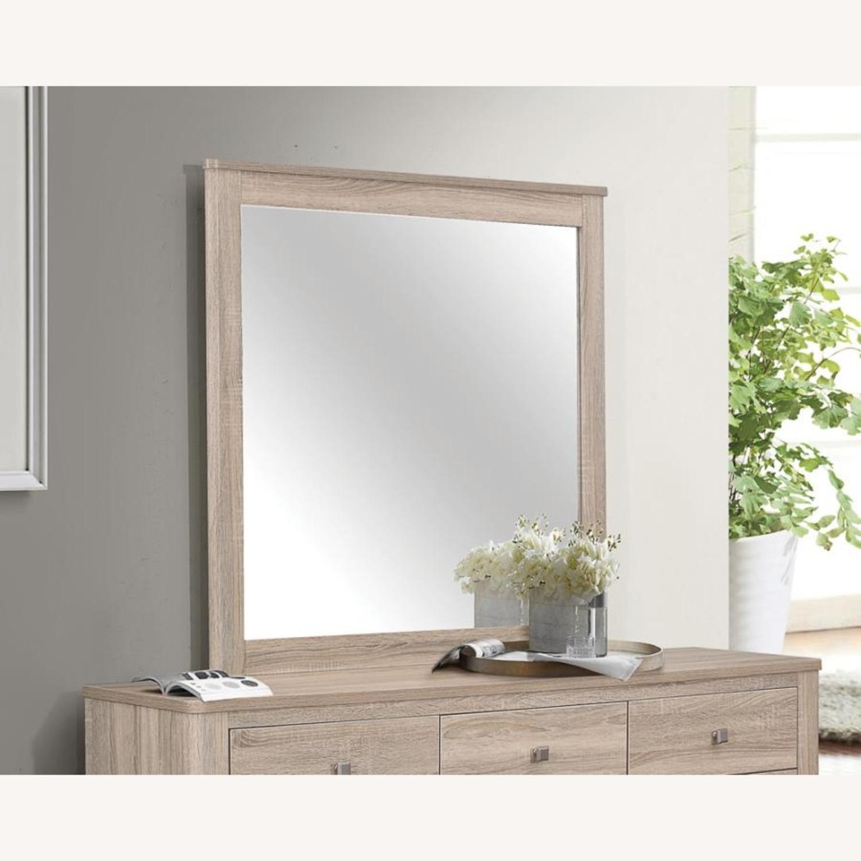 Classy Mirror In Natural Oak Finish - image-1