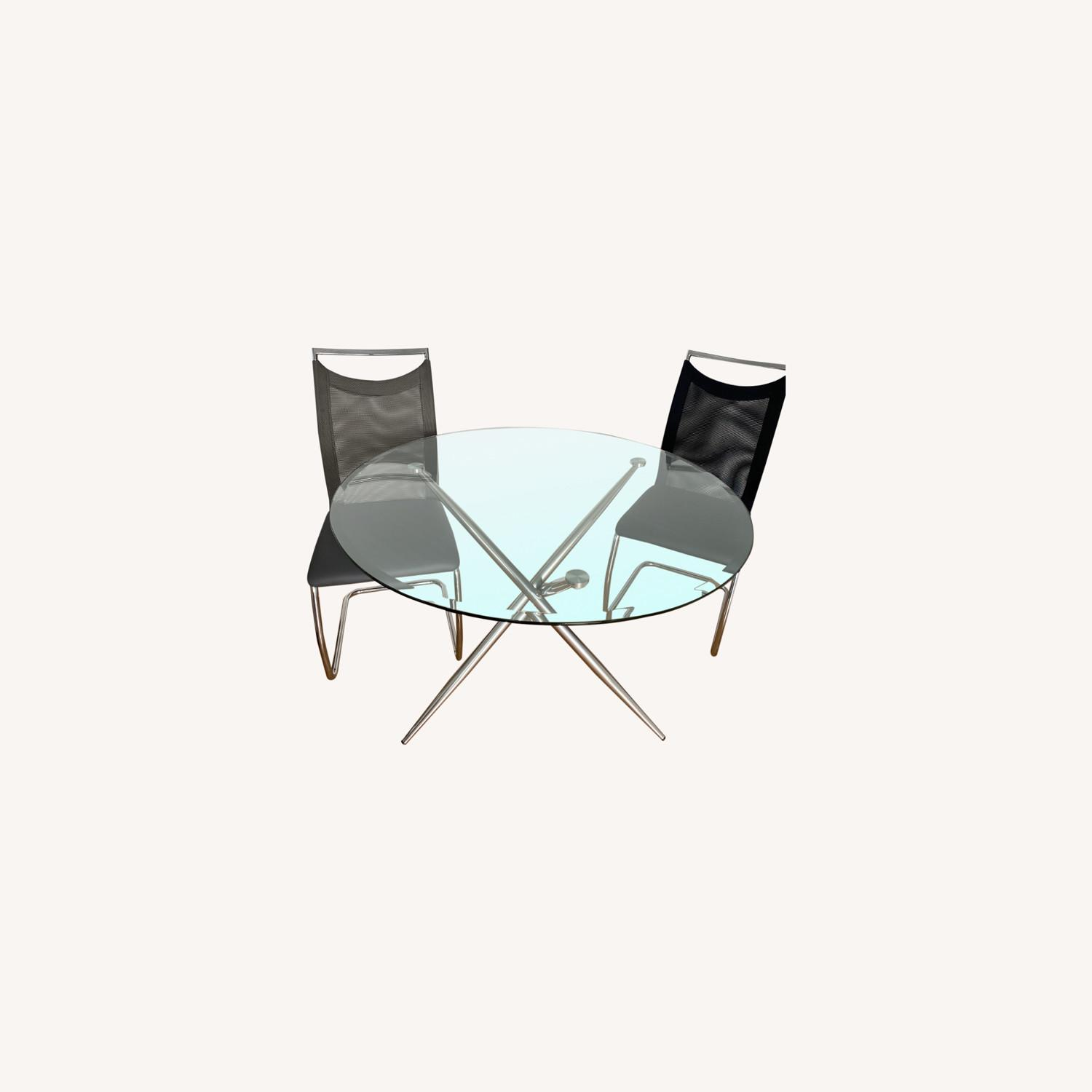 Raymour & Flanigan Adams Glass Dining Set - image-0