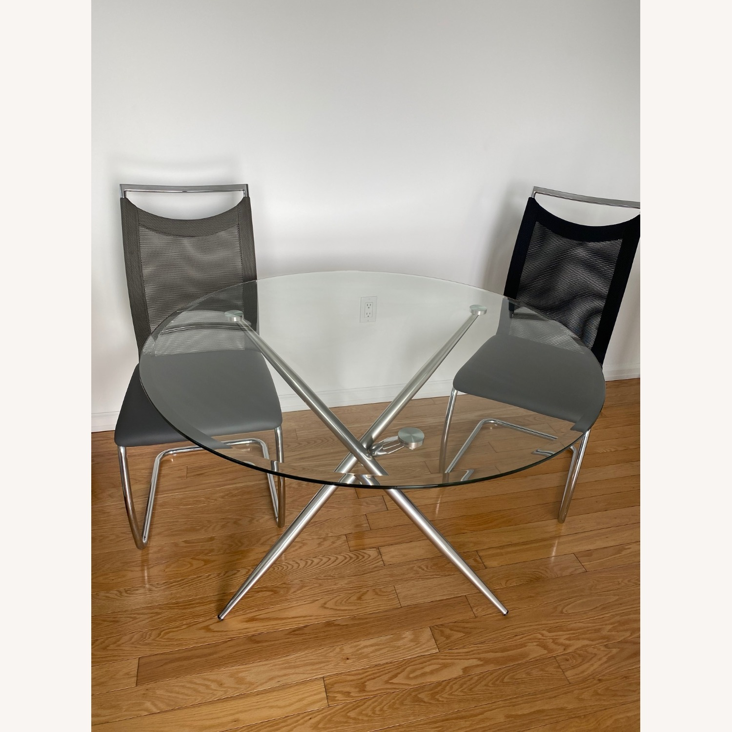 Raymour & Flanigan Adams Glass Dining Set - image-1