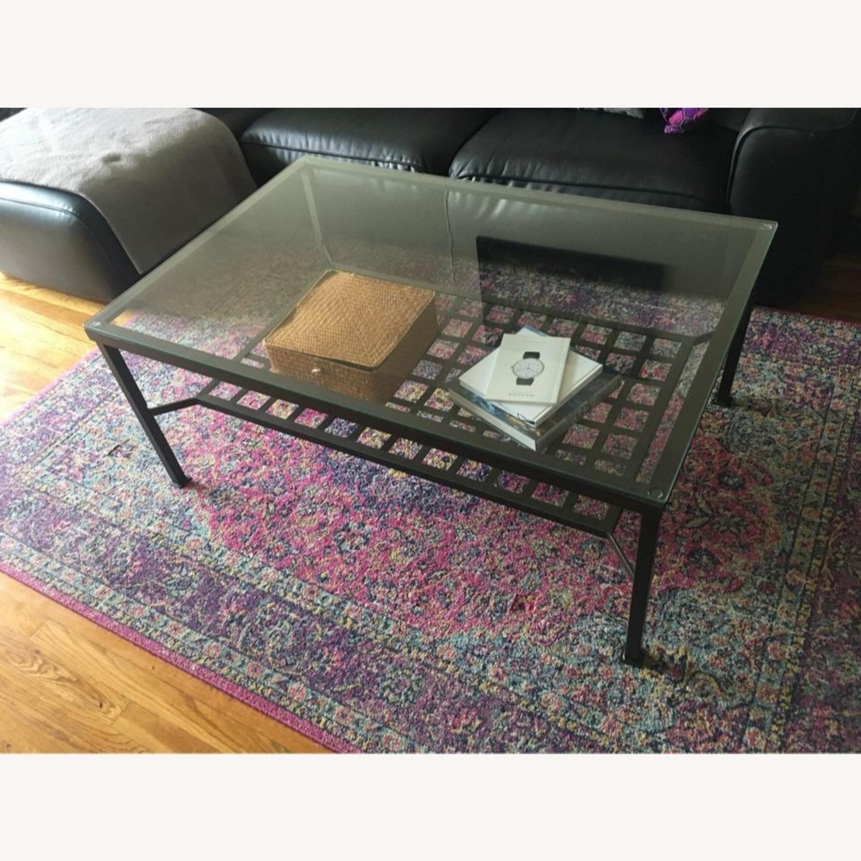 Metal and Glass Coffee Table - image-1