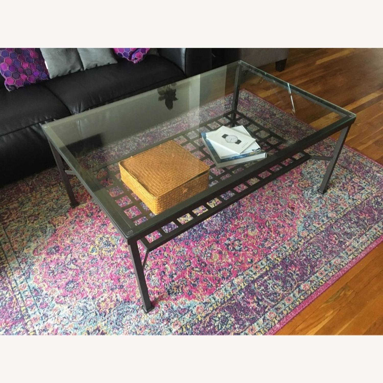 Metal and Glass Coffee Table - image-0