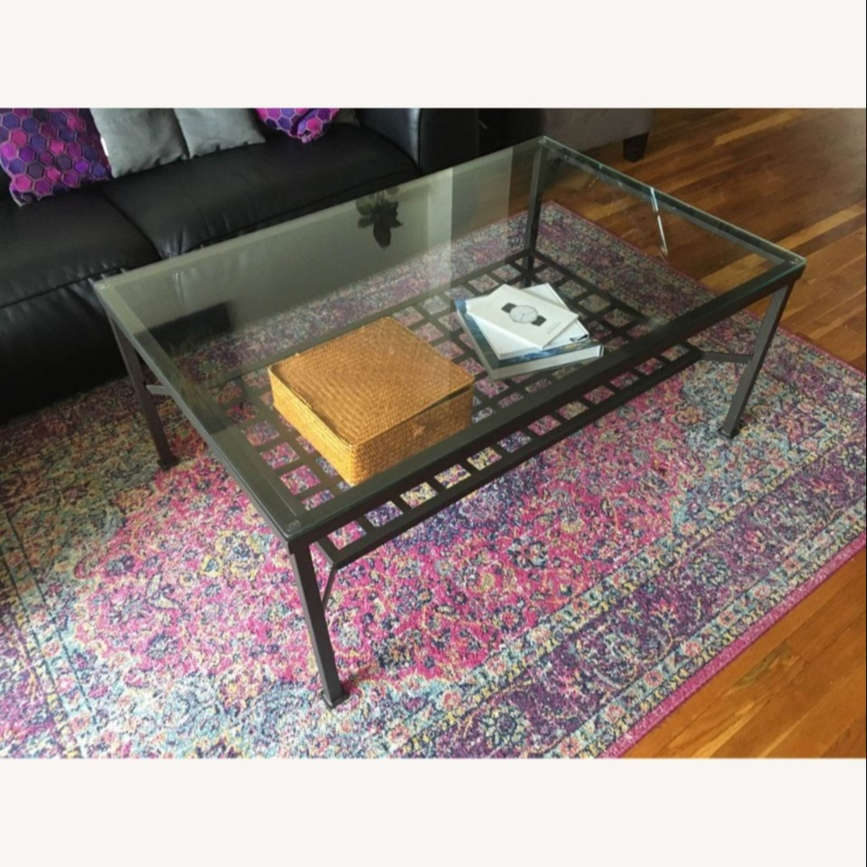 Metal and Glass Coffee Table - image-2