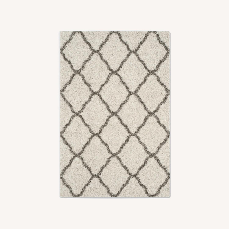 Safavieh Shaggy Area Rug Ivory / Grey - image-0
