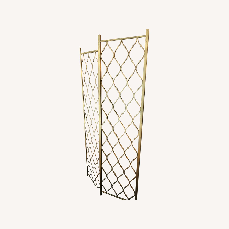 Gold Leaf Room Divider Screen - image-0