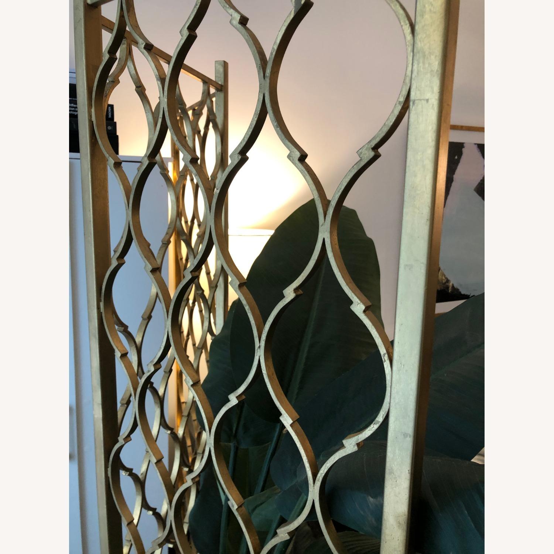 Gold Leaf Room Divider Screen - image-4