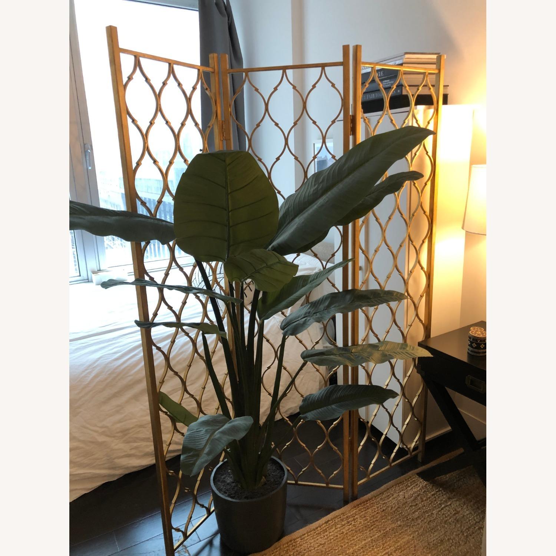 Gold Leaf Room Divider Screen - image-1