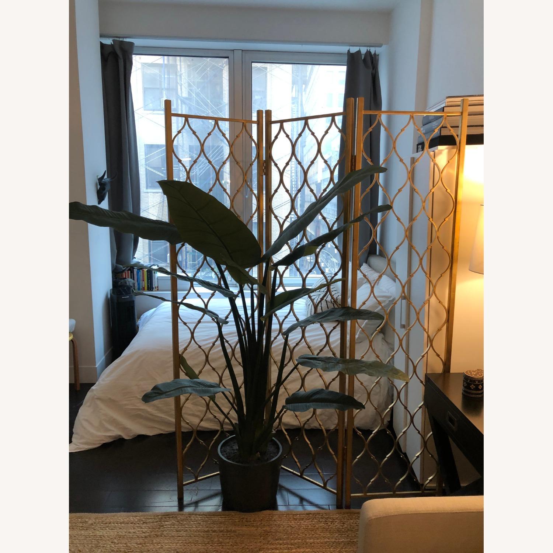 Gold Leaf Room Divider Screen - image-5