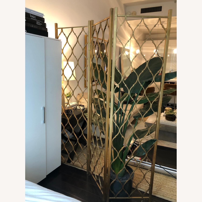 Gold Leaf Room Divider Screen - image-3