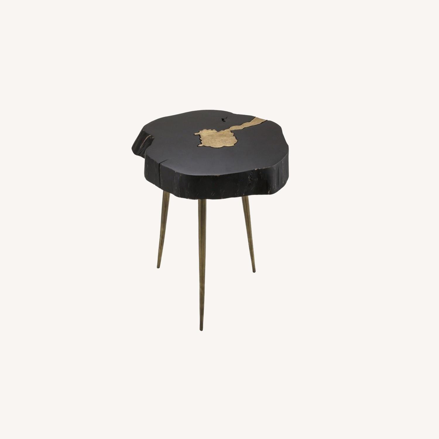 TOV Furniture Timber Black and Brass Side Table - image-0