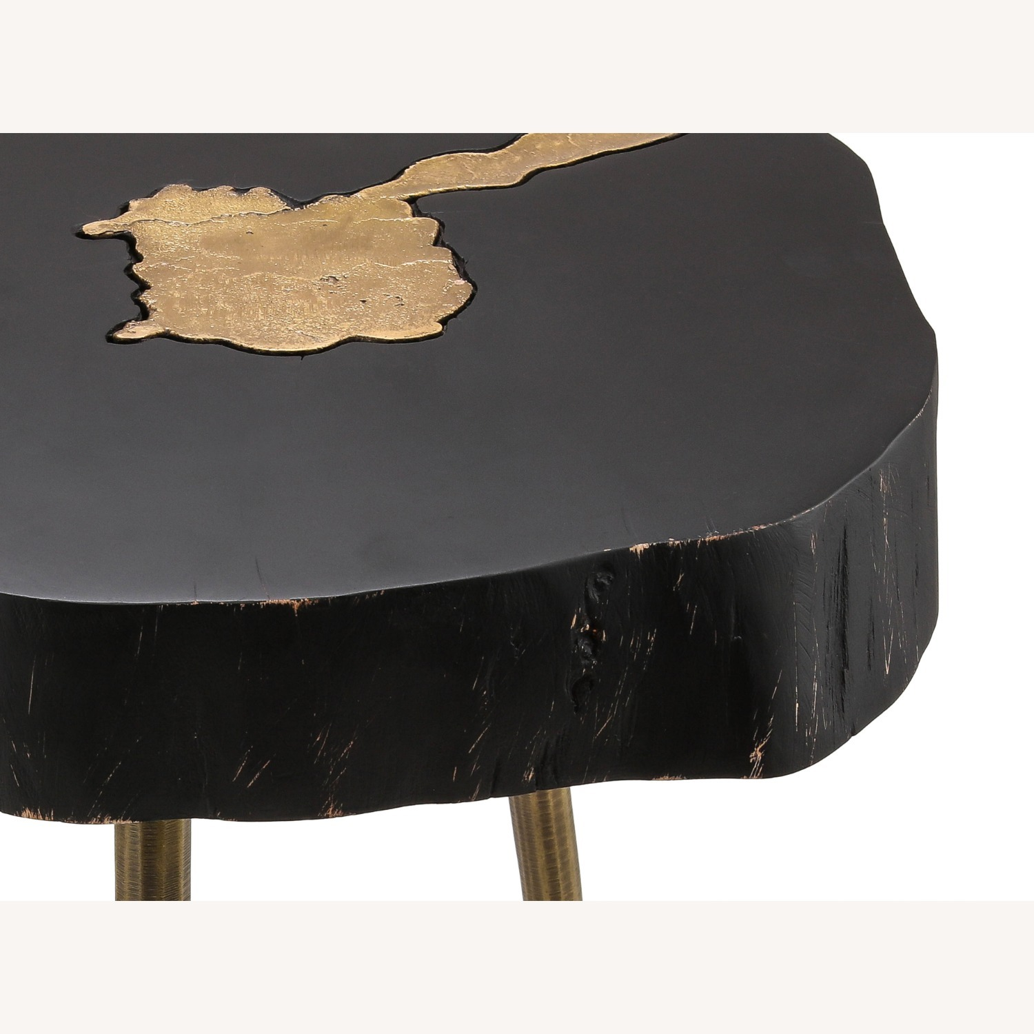 TOV Furniture Timber Black and Brass Side Table - image-3