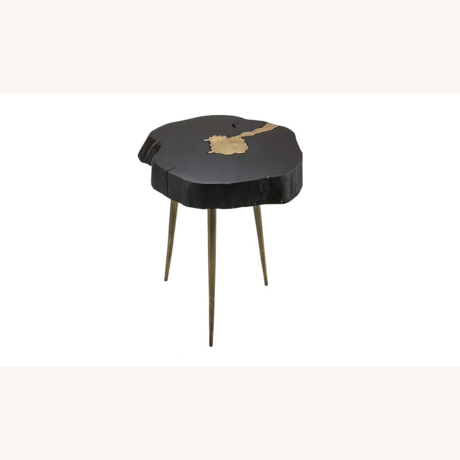TOV Furniture Timber Black and Brass Side Table - image-1