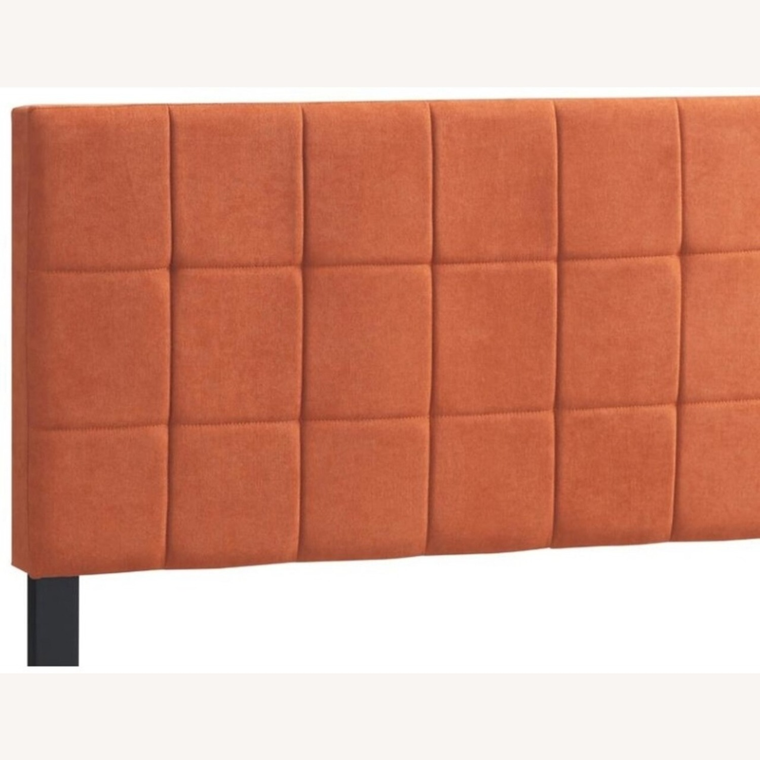 Queen Bed In A Pop Of Color Orange Fabric - image-2