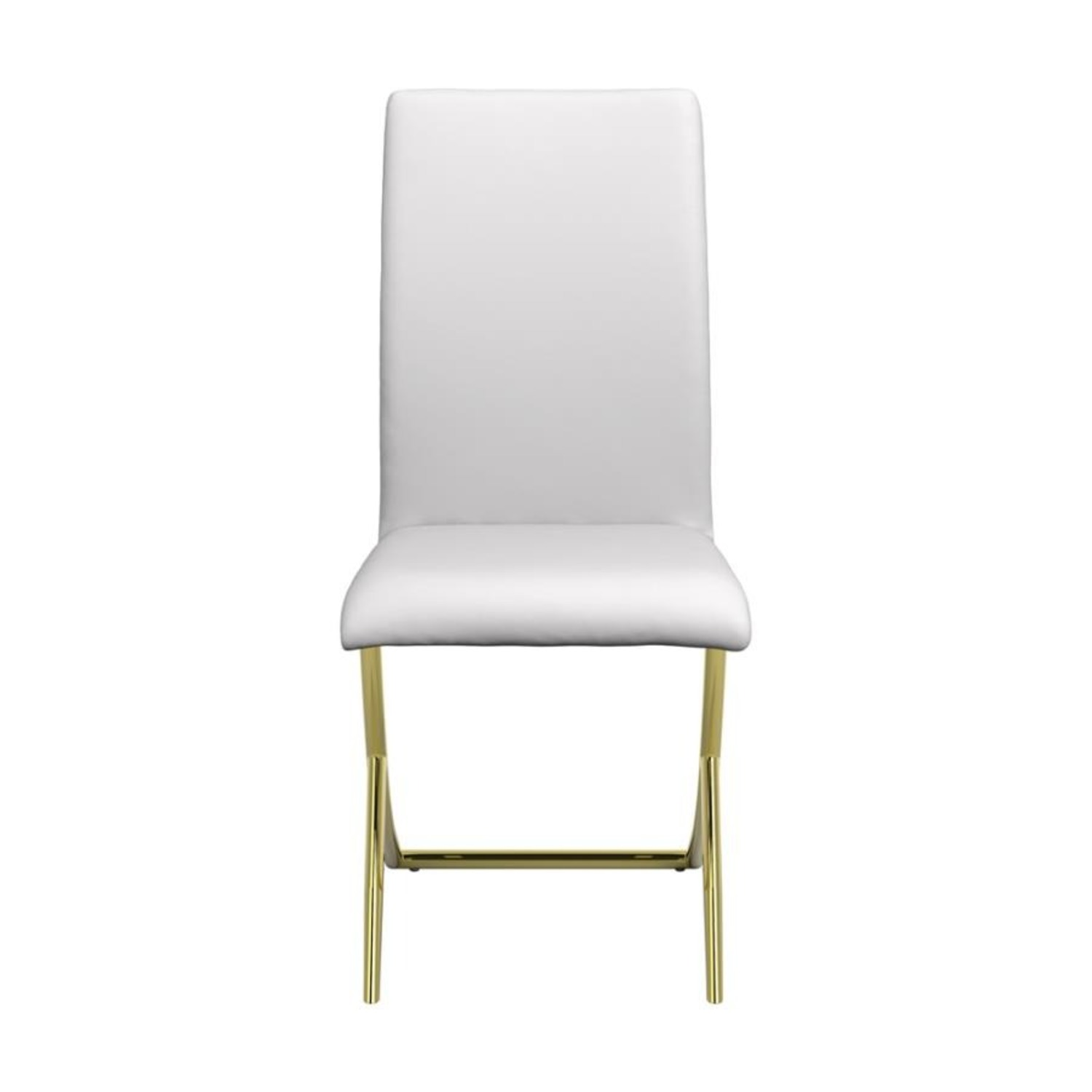 Side Chair In White W/ Crisscross Base Design - image-1