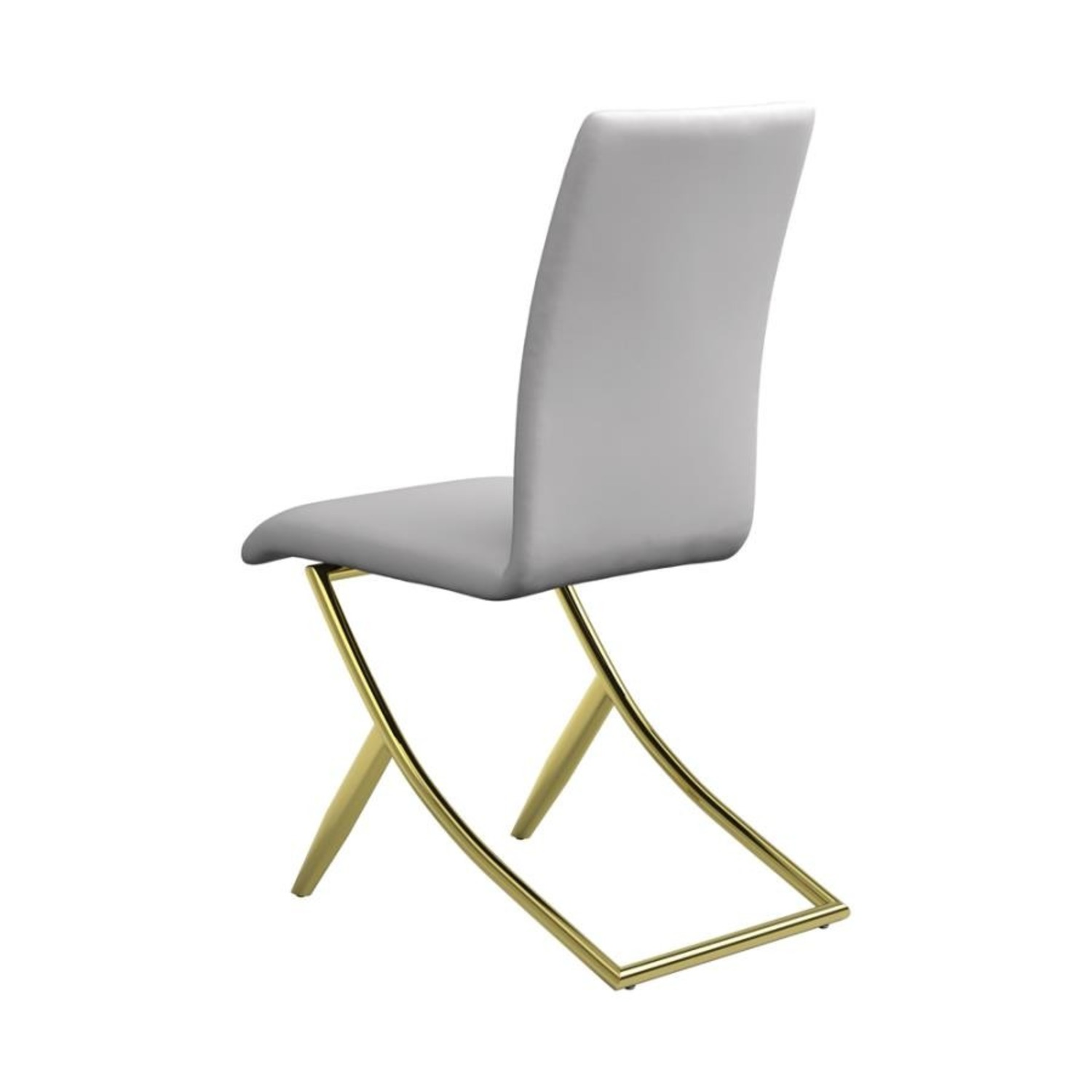 Side Chair In White W/ Crisscross Base Design - image-2