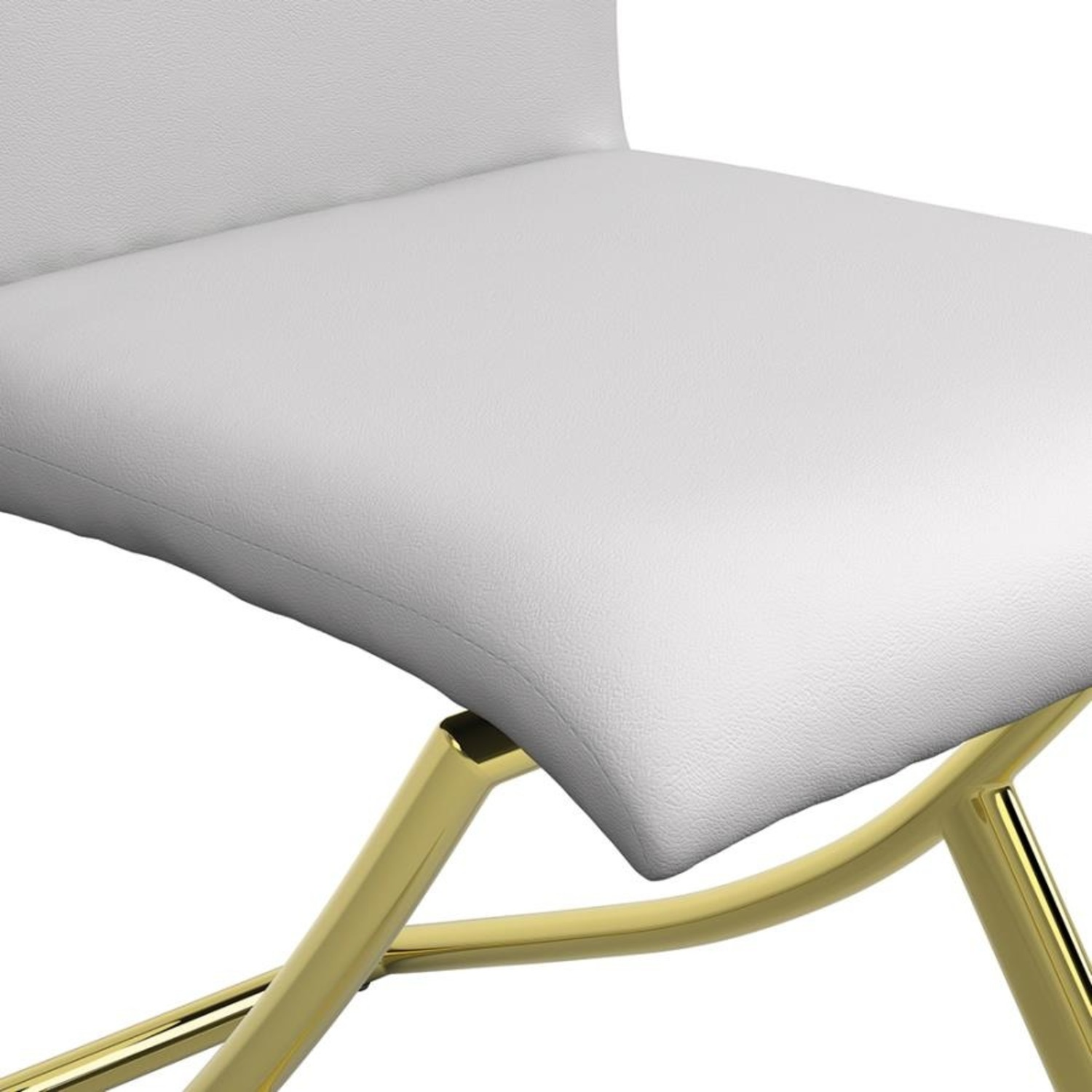 Side Chair In White W/ Crisscross Base Design - image-3