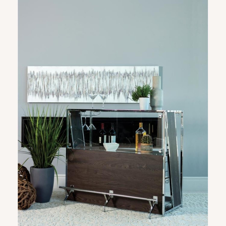 Modern Bar Unit In Dark Oak Finish - image-2