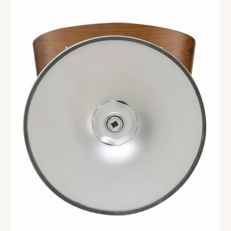 Height Adjustable Bar Stool In Ecru Leatherette - image-3