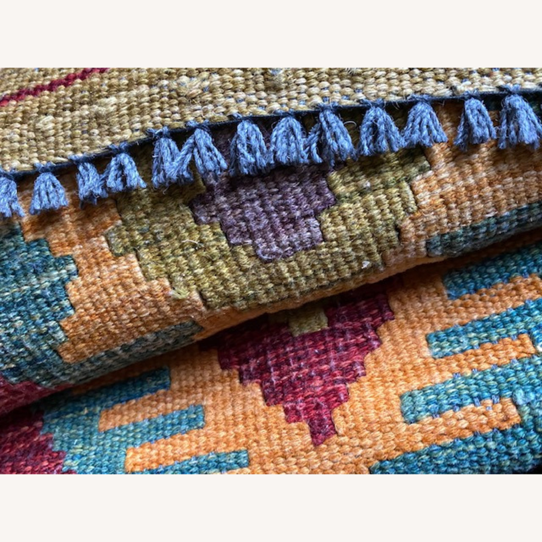 """Herat"" Afghan Handwoven Tribal Throw Rug - image-4"