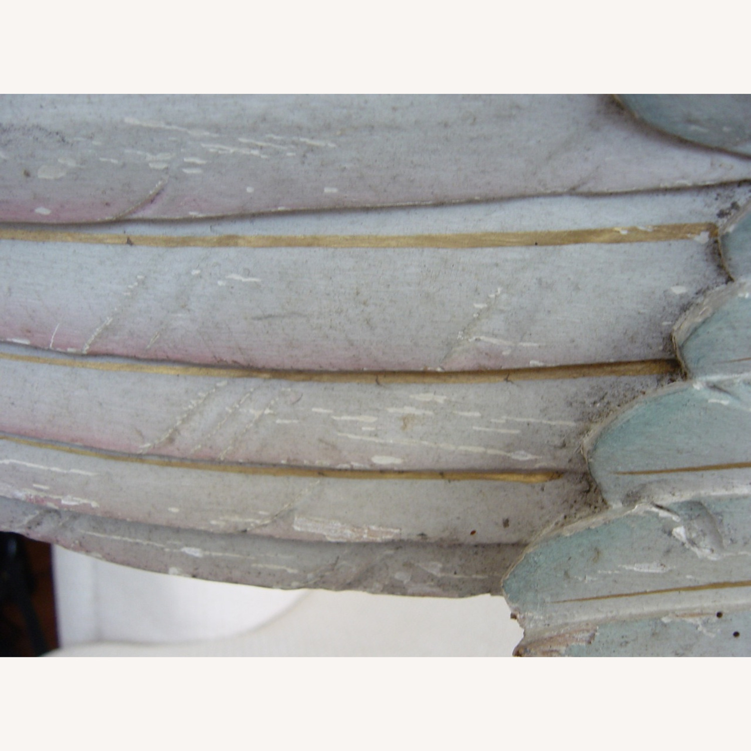 Polychromed Antique Angel Wing on Stand - image-8