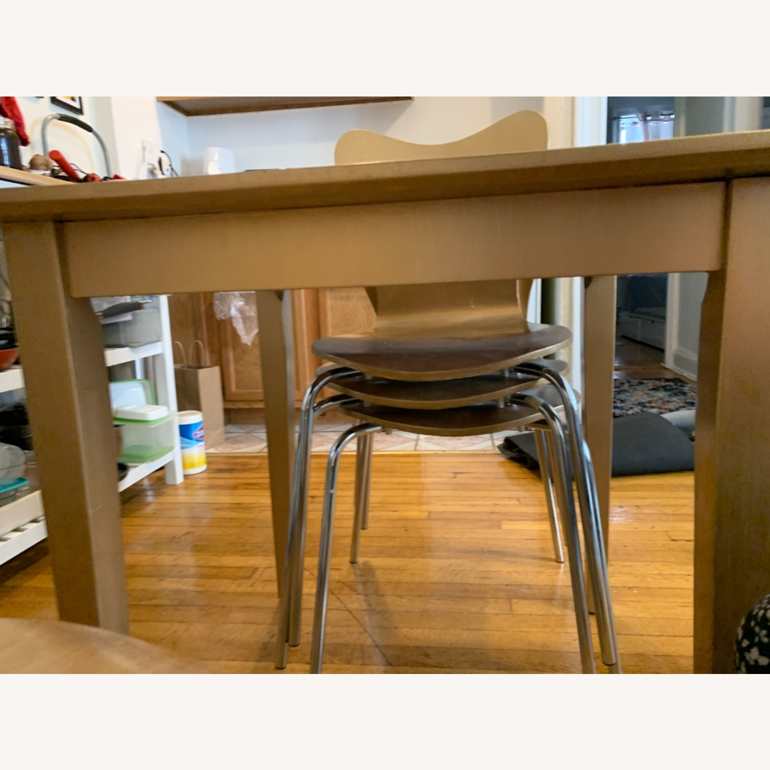 Gold West Elm (4) Chairs and Table - image-5