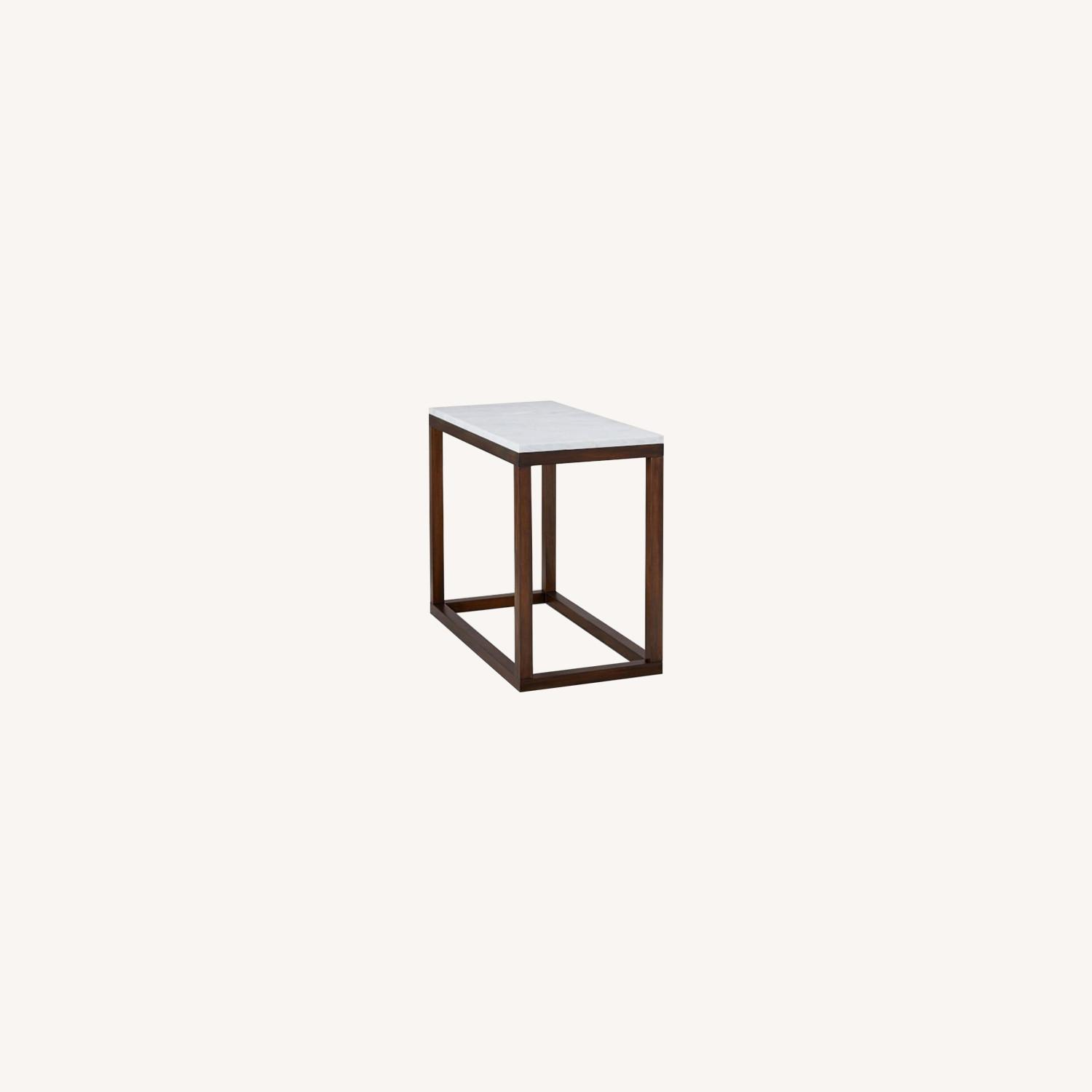West Elm Wood Frame Side Table - image-0