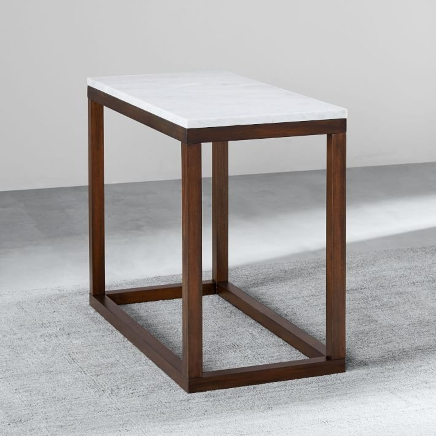 West Elm Wood Frame Side Table - image-1