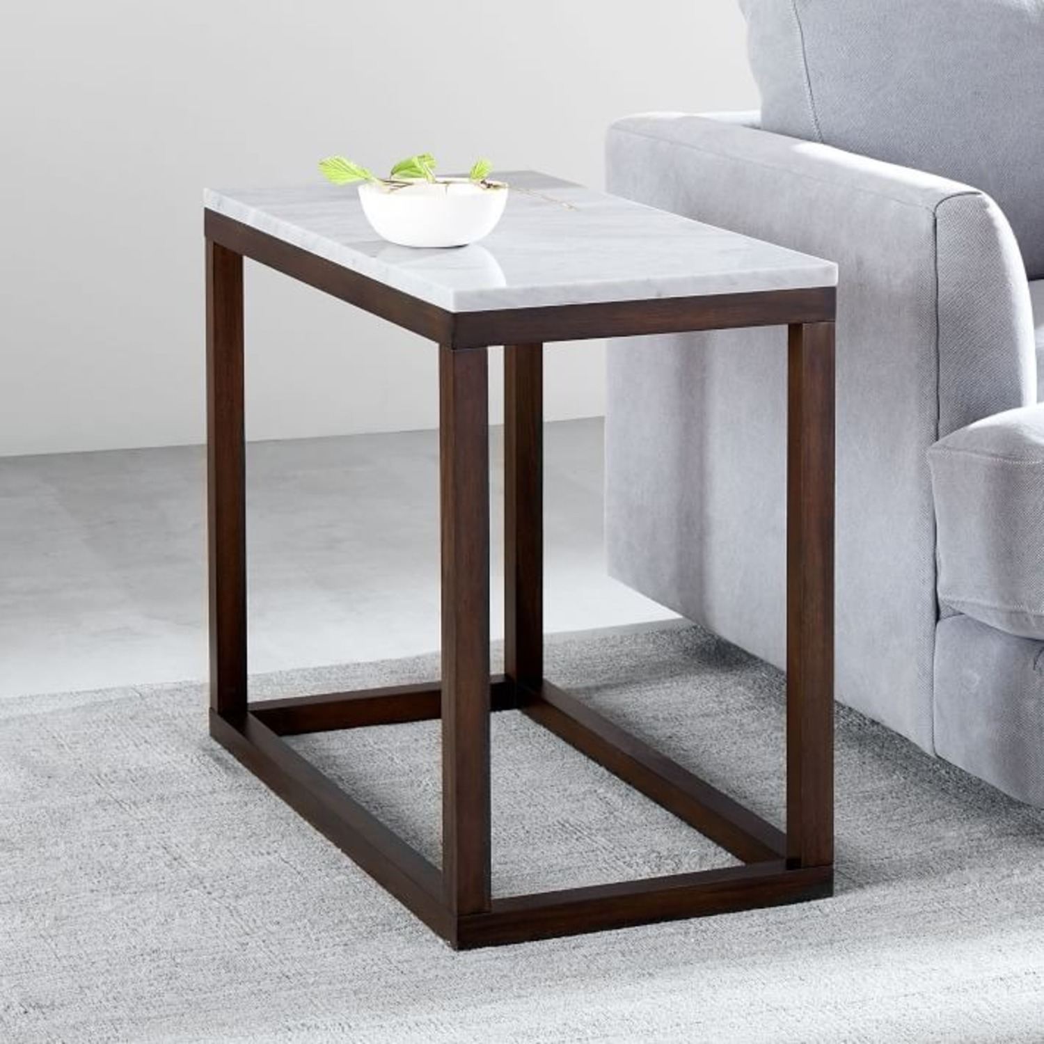 West Elm Wood Frame Side Table - image-3