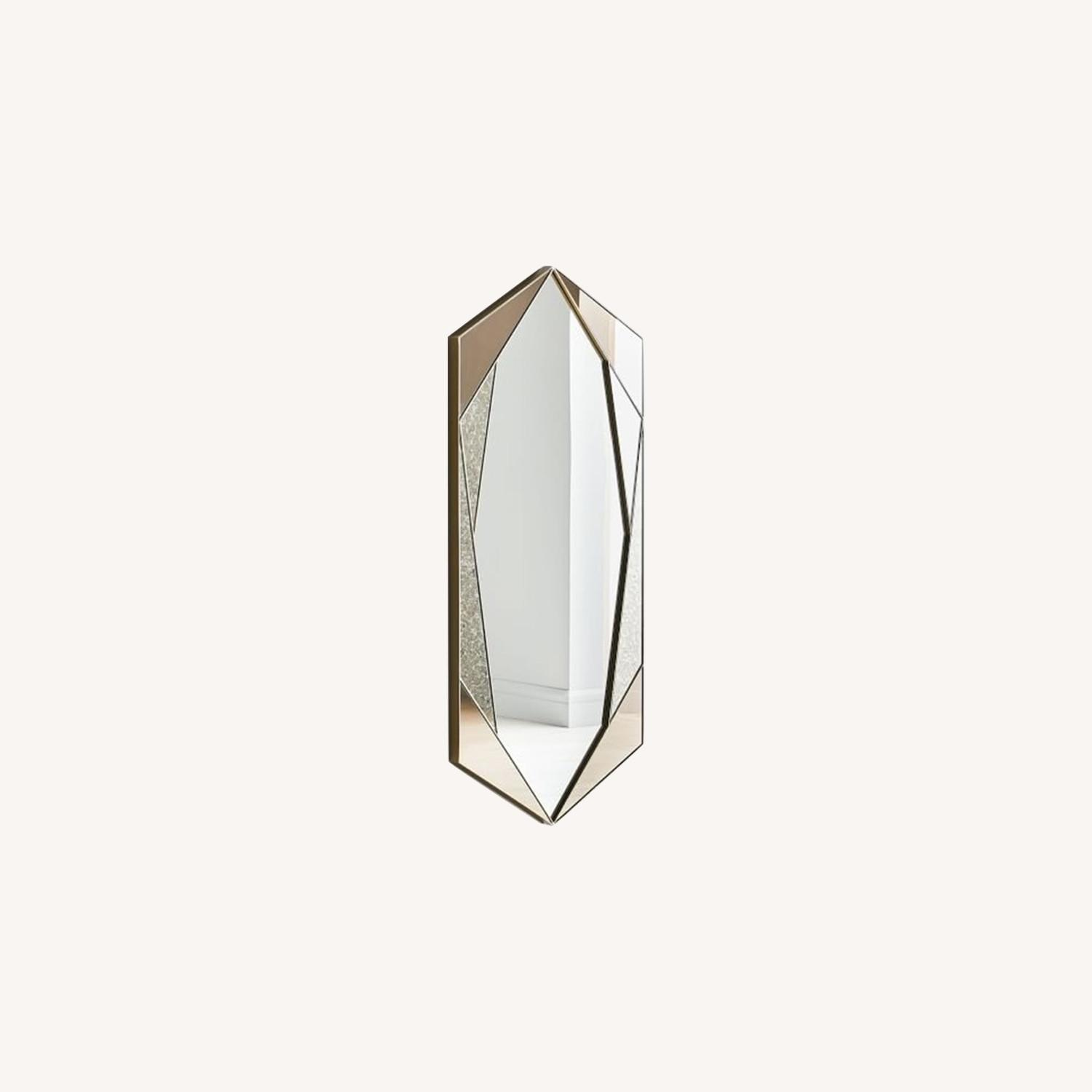 West Elm Facted Tinted Mirror Foxed, Tinted Tall - image-0