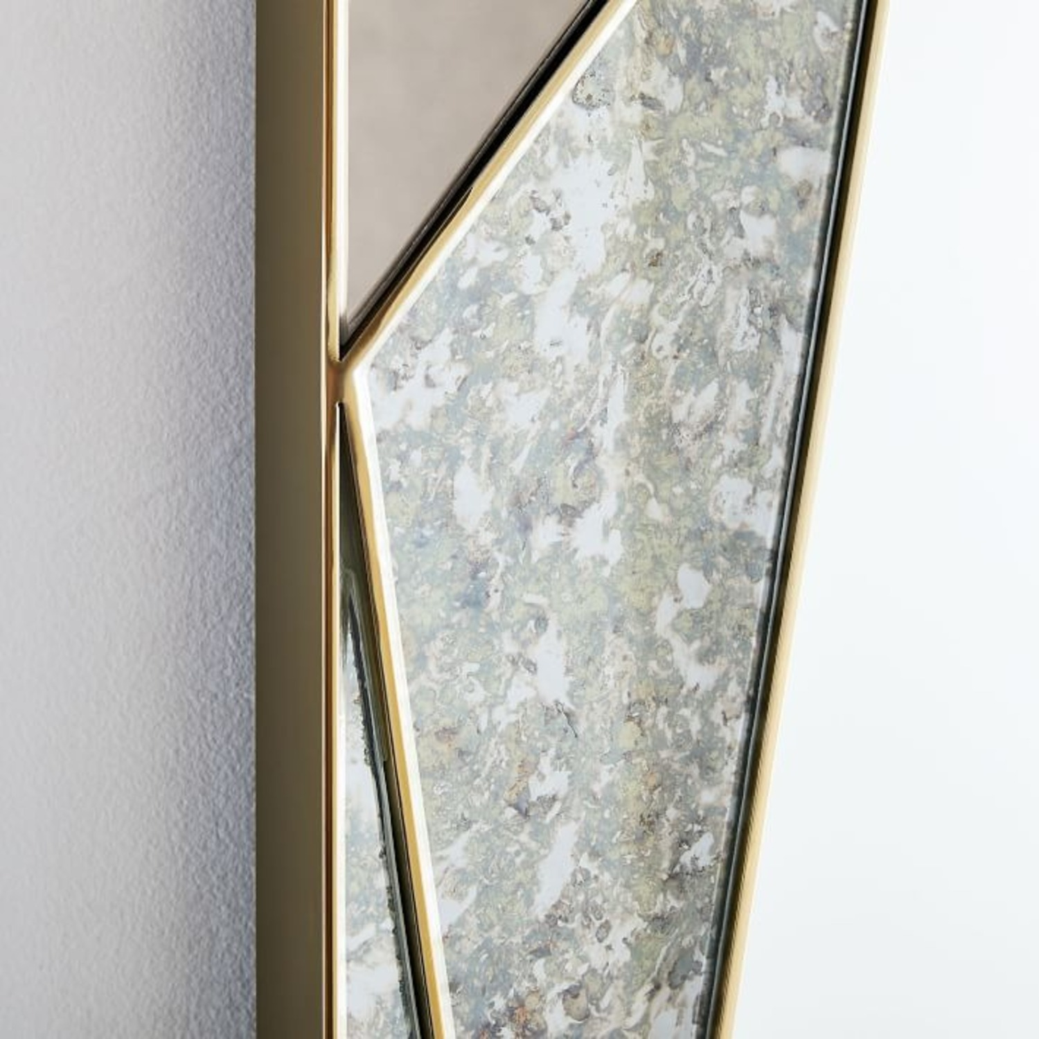 West Elm Facted Tinted Mirror Foxed, Tinted Tall - image-2