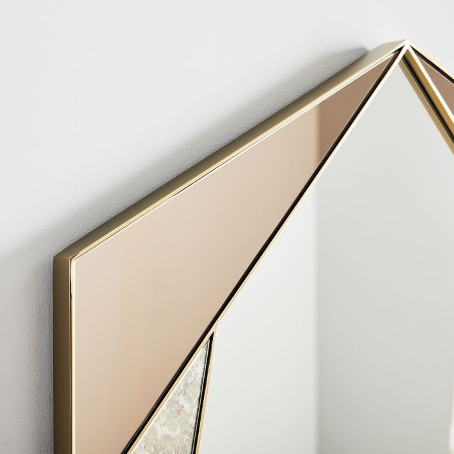 West Elm Facted Tinted Mirror Foxed, Tinted Tall - image-3