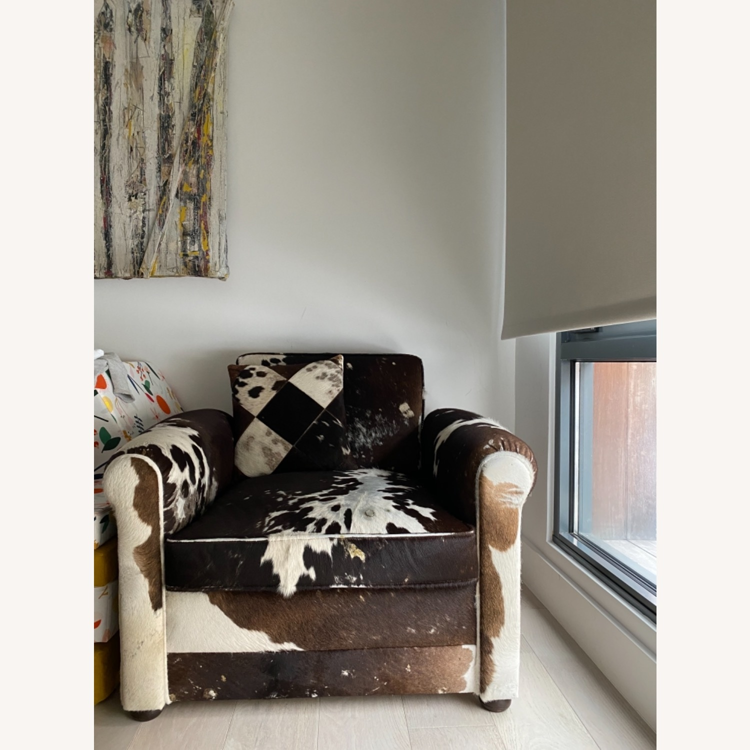 Genuine Cow Hide Arm Chair - image-12