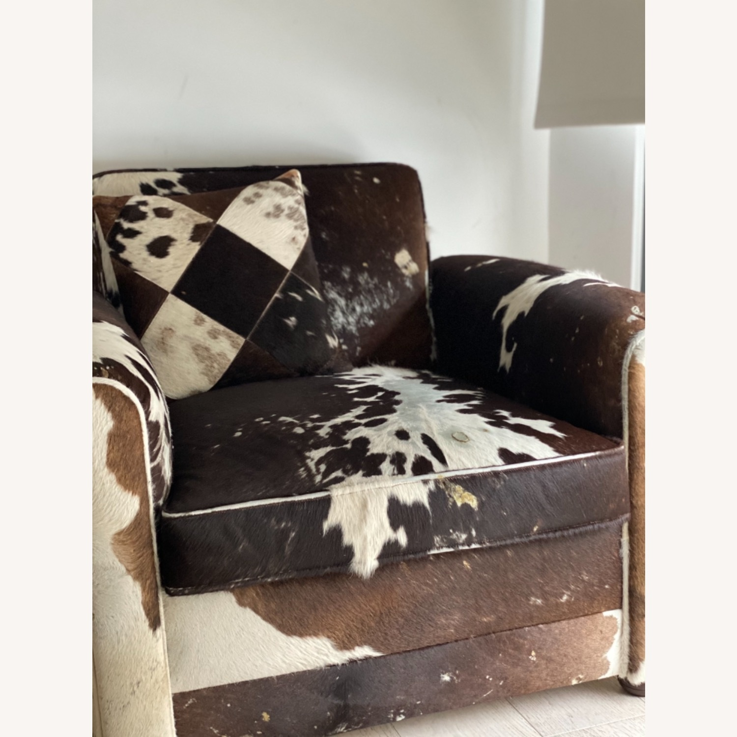 Genuine Cow Hide Arm Chair - image-9