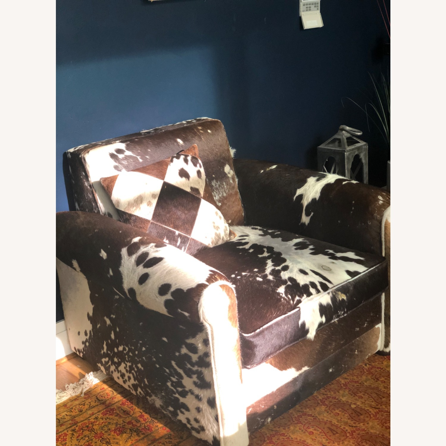Genuine Cow Hide Arm Chair - image-2