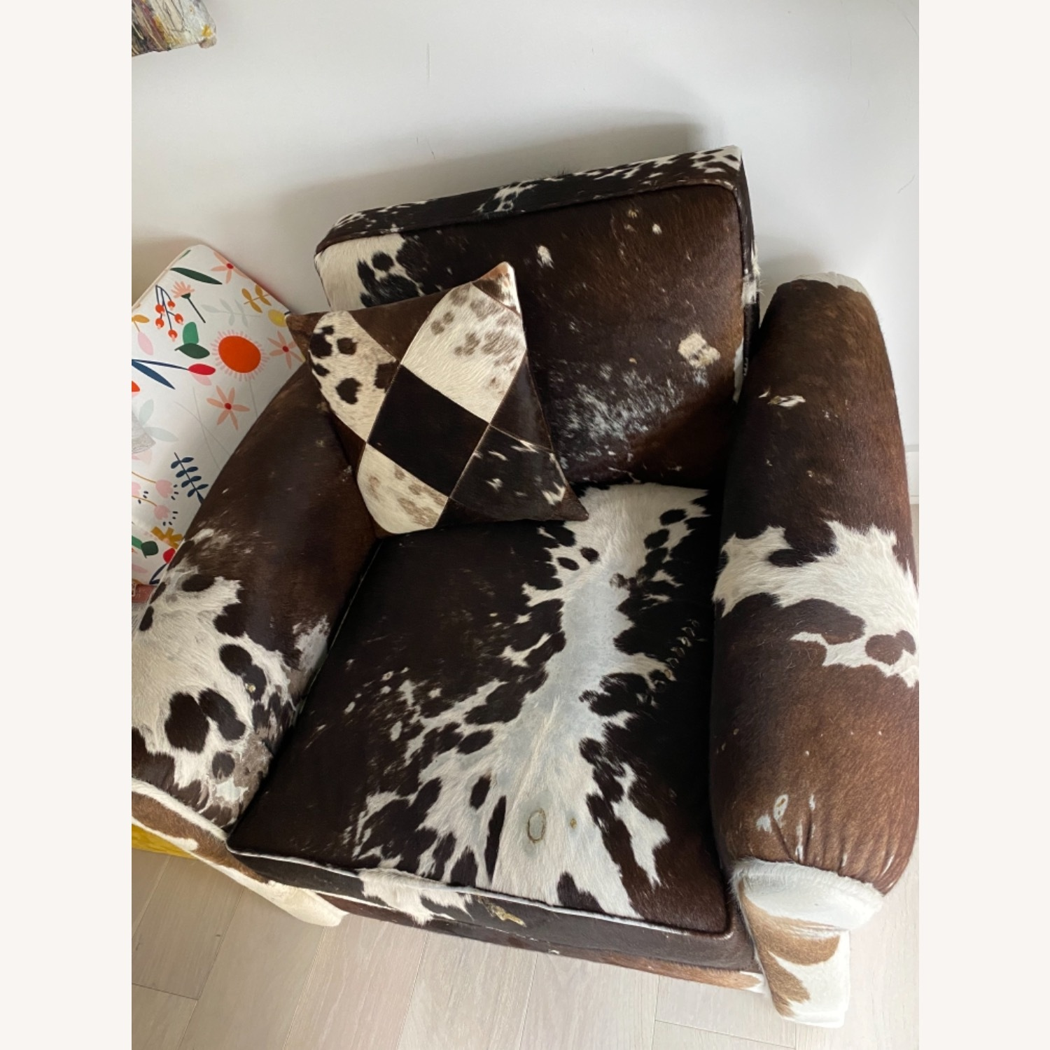 Genuine Cow Hide Arm Chair - image-10