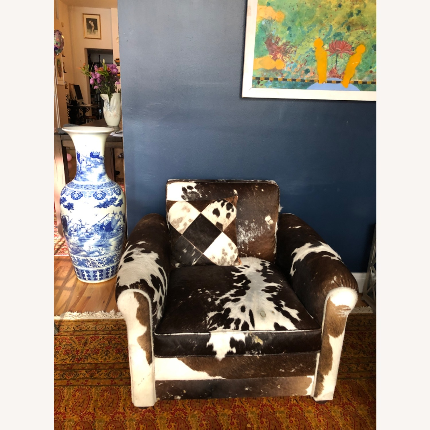 Genuine Cow Hide Arm Chair - image-7
