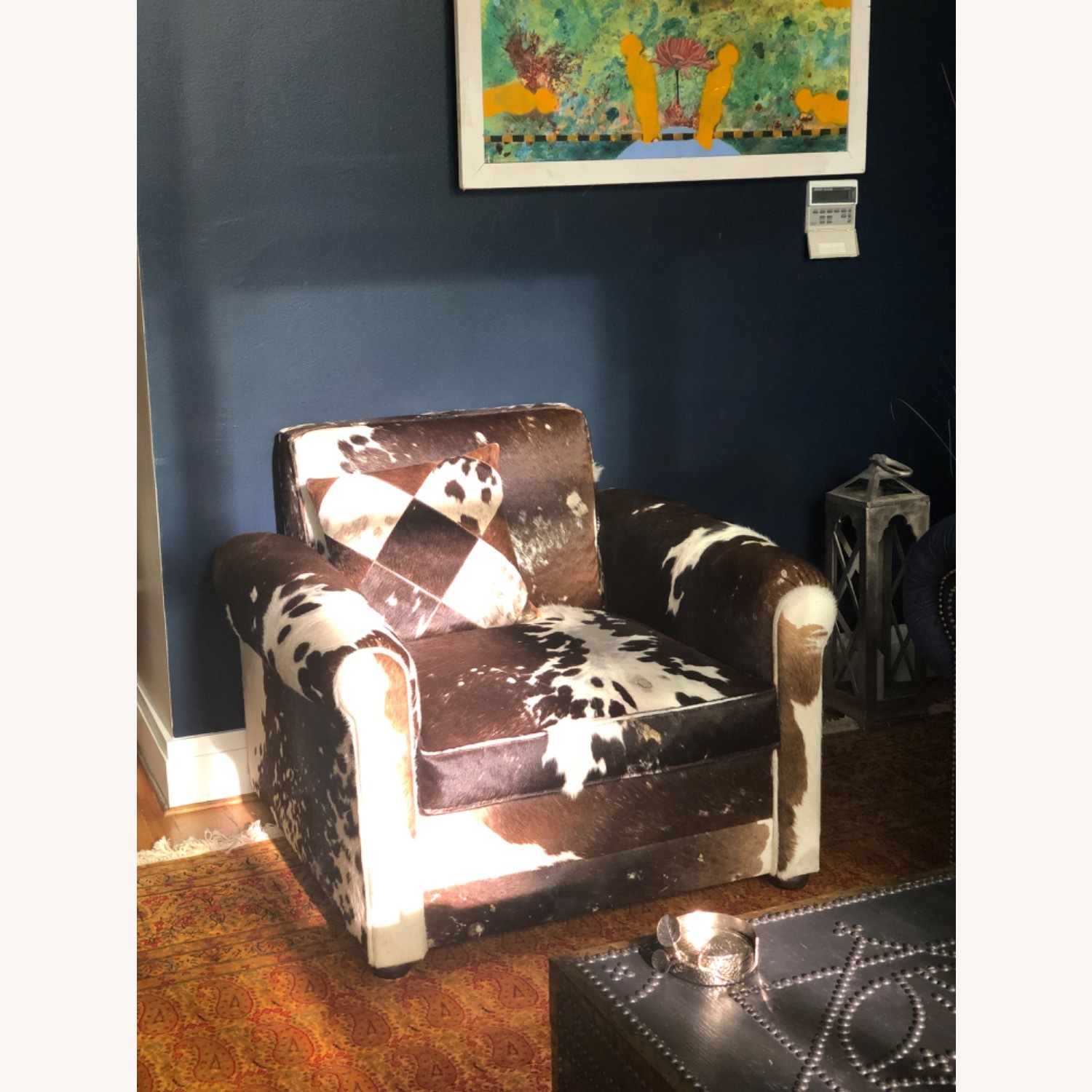 Genuine Cow Hide Arm Chair - image-1