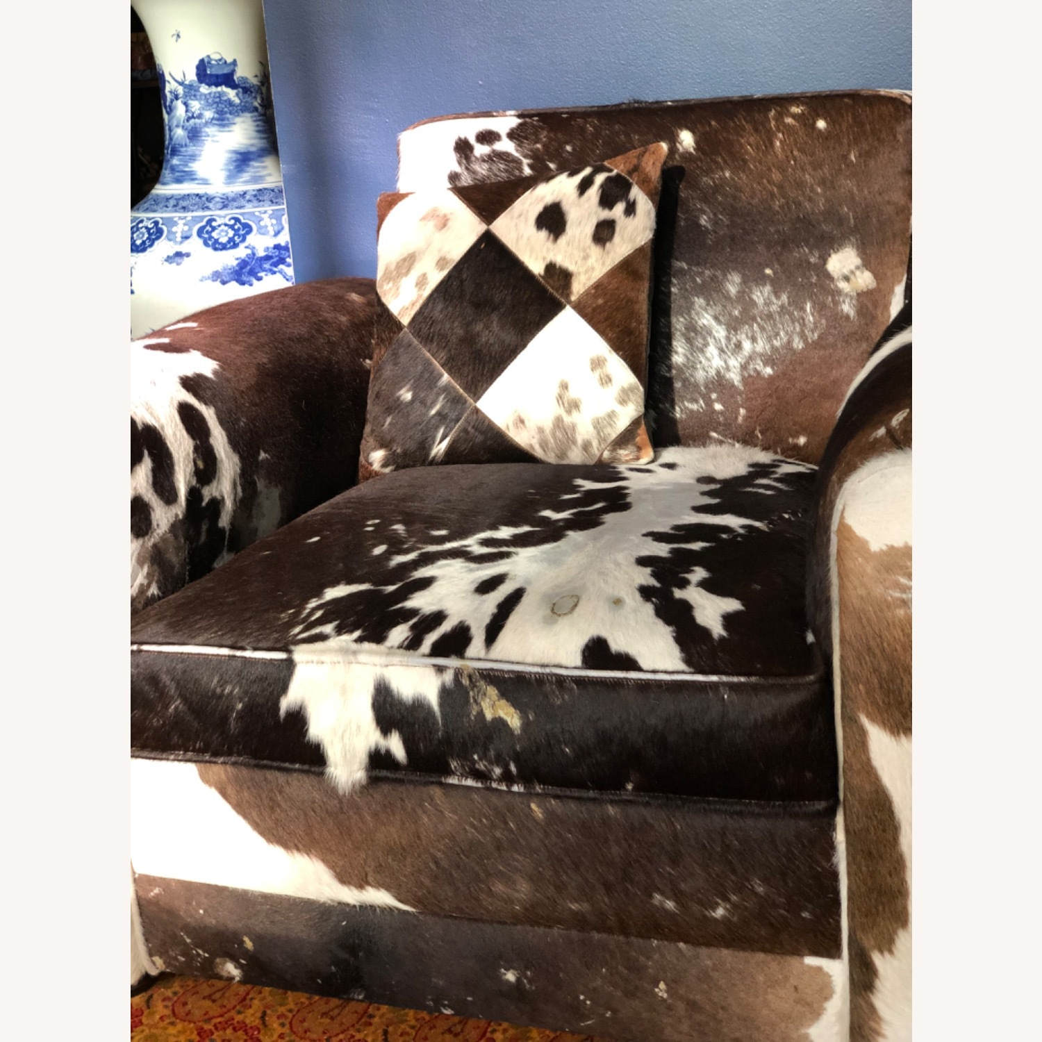 Genuine Cow Hide Arm Chair - image-6