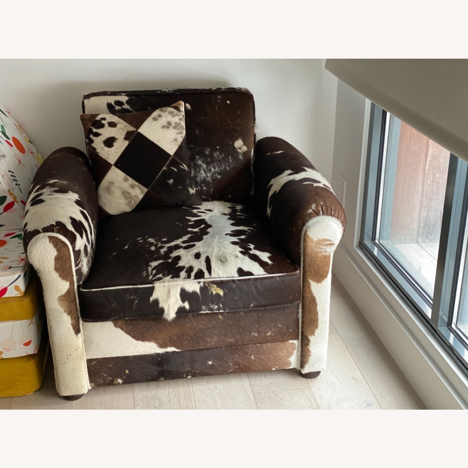 Genuine Cow Hide Arm Chair - image-8