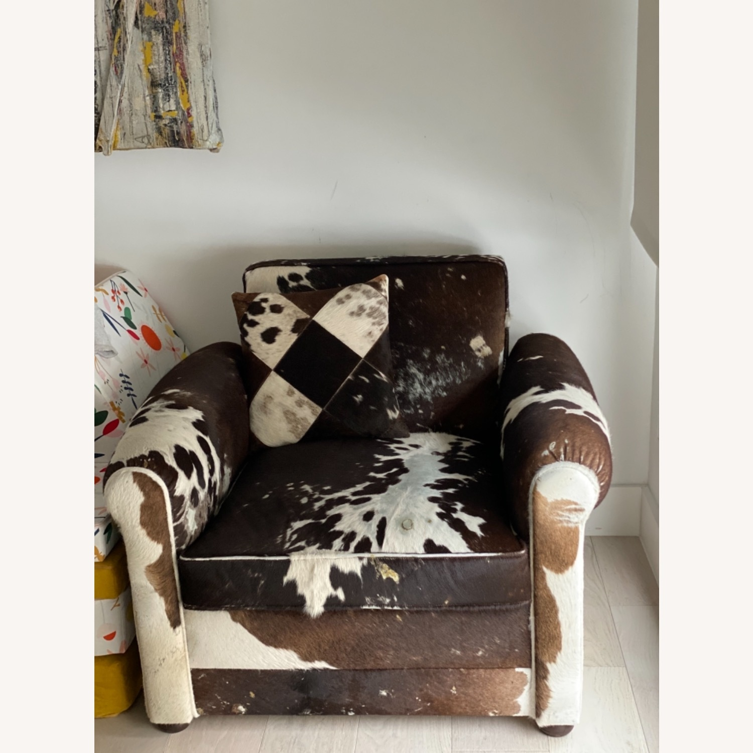 Genuine Cow Hide Arm Chair - image-14