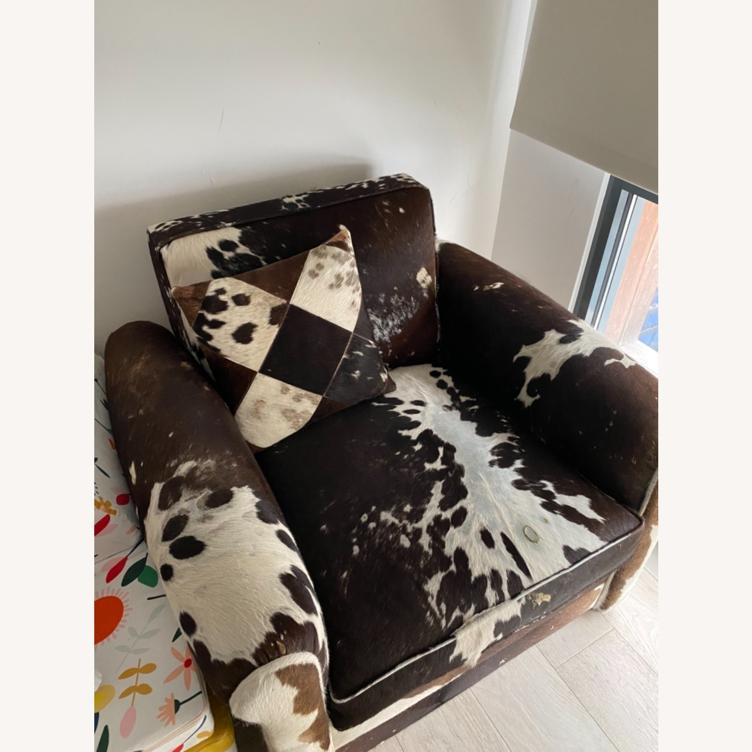 Genuine Cow Hide Arm Chair - image-15