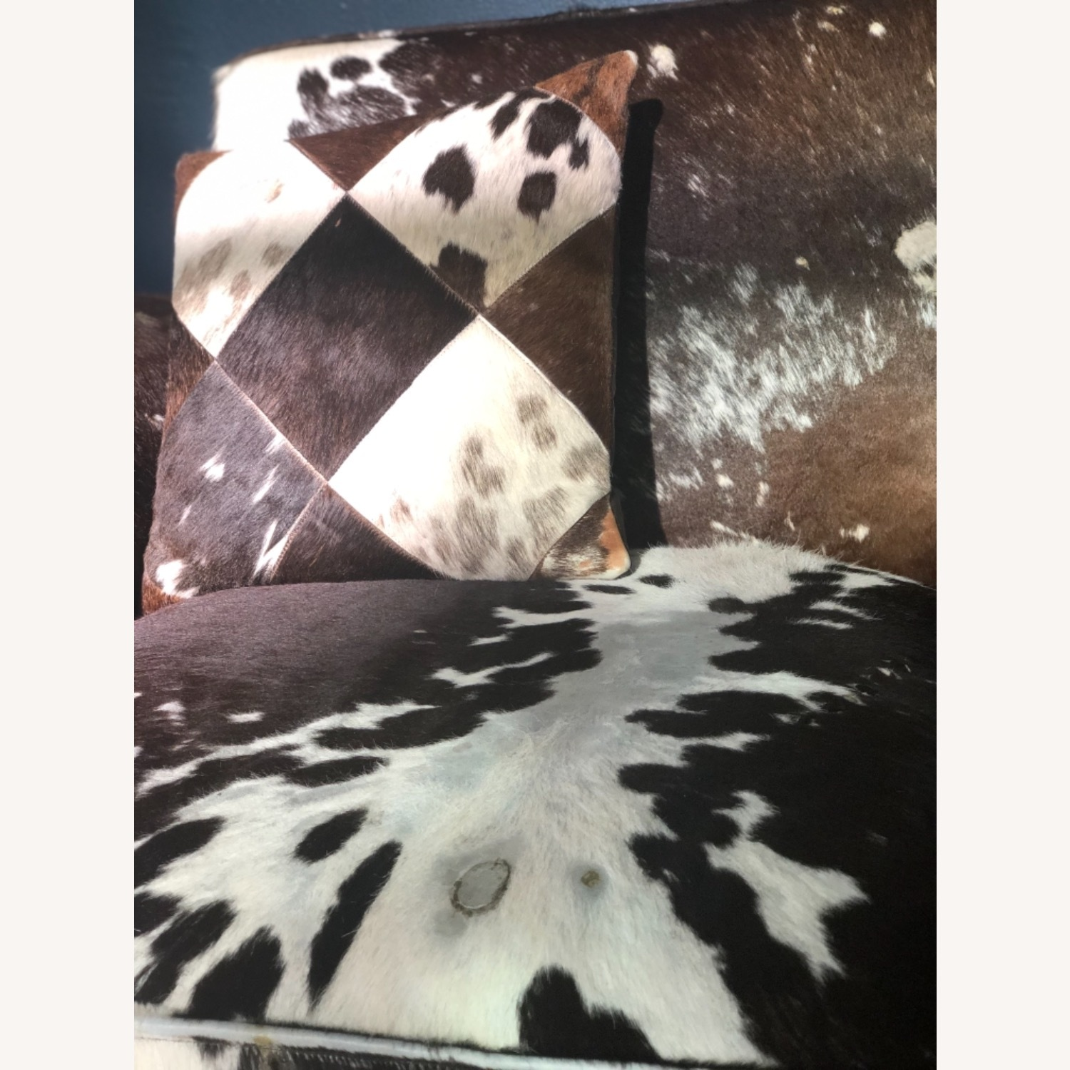 Genuine Cow Hide Arm Chair - image-3