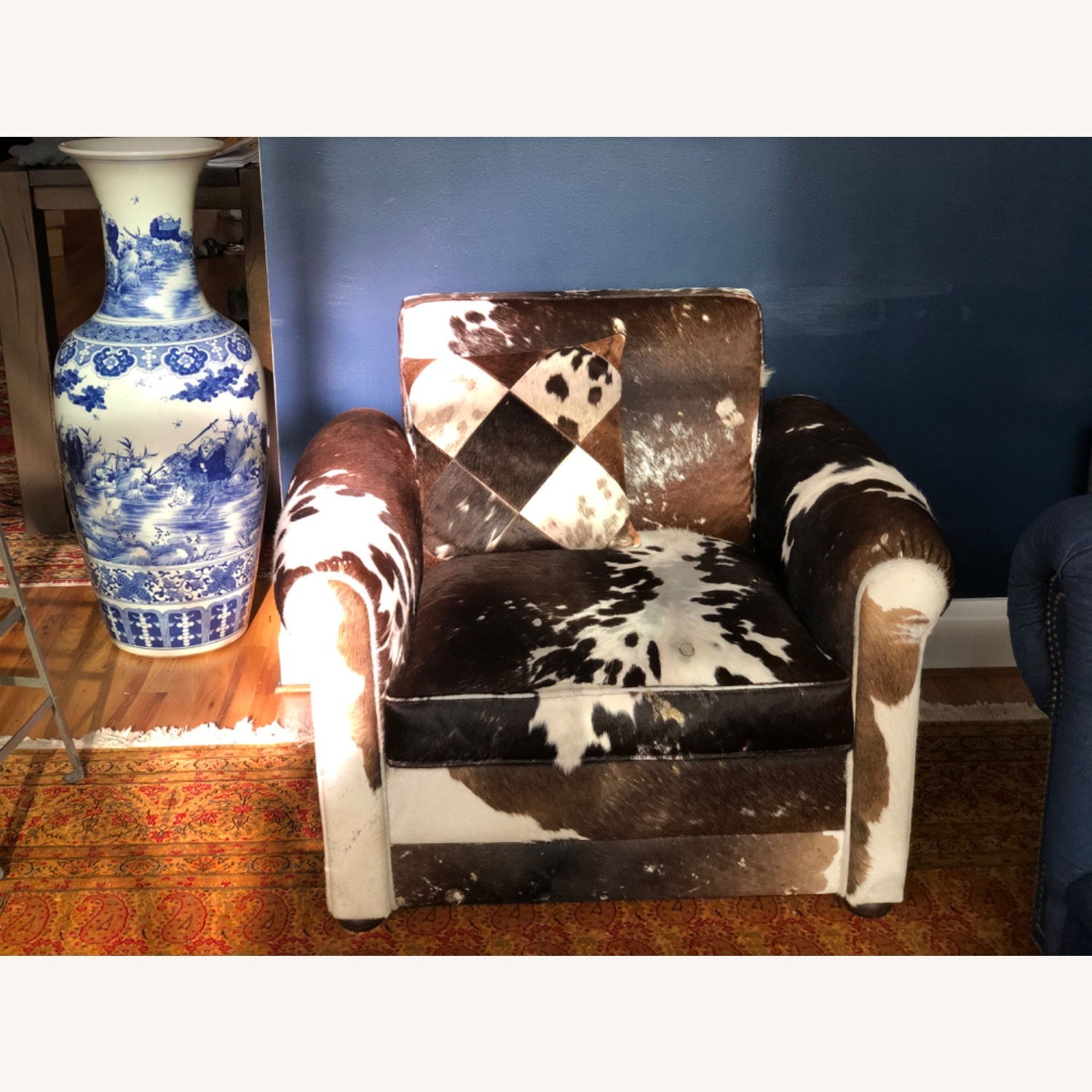 Genuine Cow Hide Arm Chair - image-5