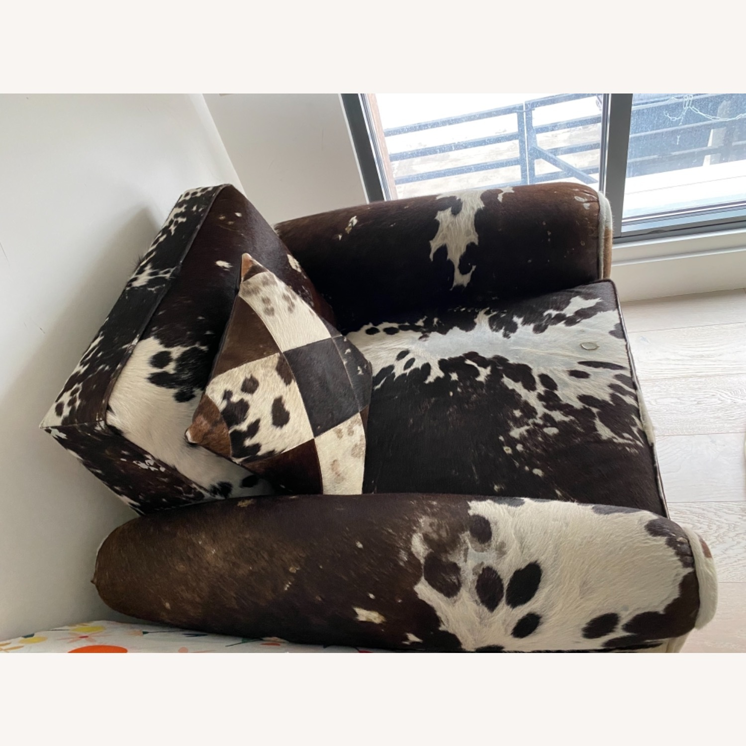 Genuine Cow Hide Arm Chair - image-11