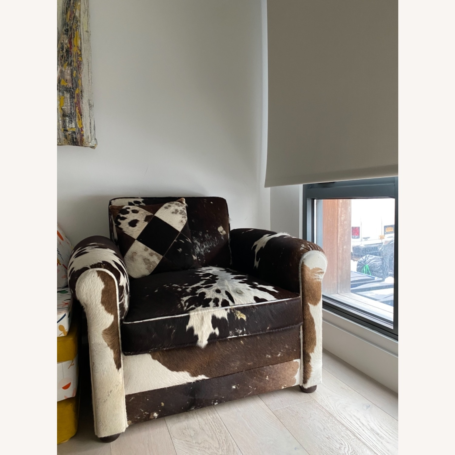 Genuine Cow Hide Arm Chair - image-13