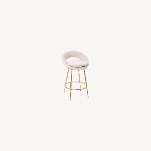 Used West Elm Orb Upholstered Counter Stools for sale on AptDeco