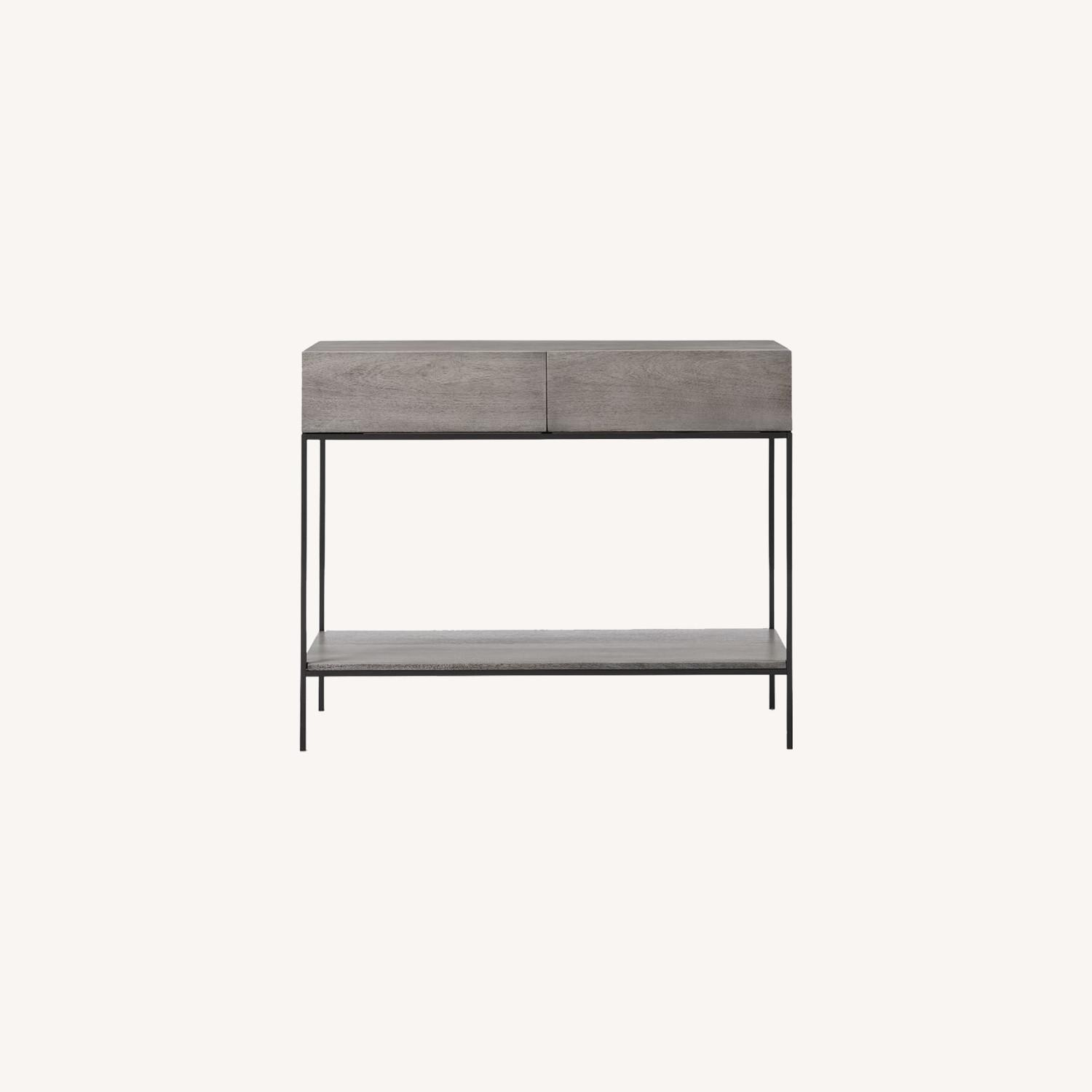 West Elm Industrial Storage Console, Gray - image-0