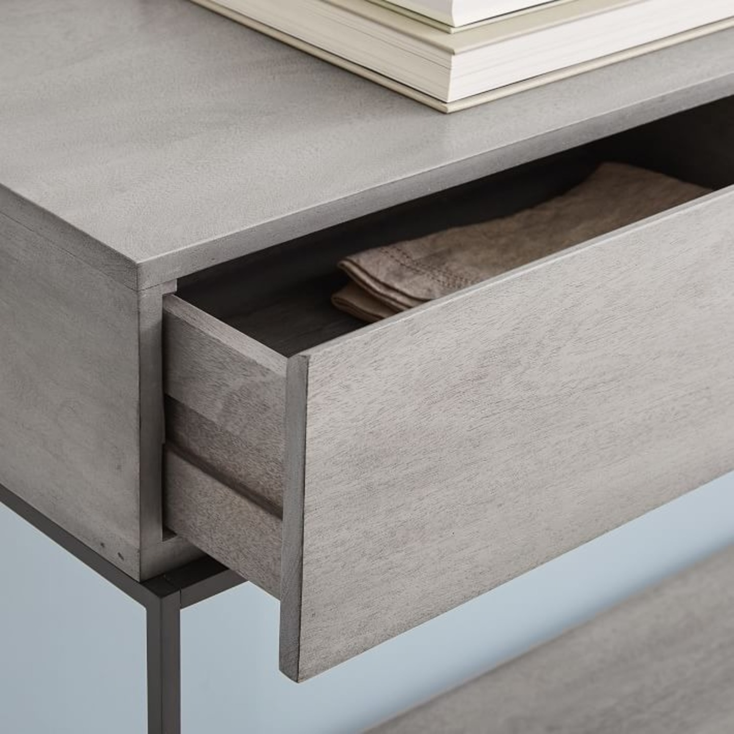 West Elm Industrial Storage Console, Gray - image-2